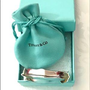 Tiffany & Co 925 Silver Leaf Cuff Bracelet